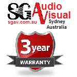 WARRANTY PACK - SG Audio Visual  A and Ai Series Additional 2yr Supply Part or Replacement for screens up to 2.4m wide