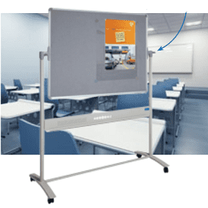 Visionchart, 1200, x, 900mm, Combo, Mobile, Revolving, Whiteboard,
