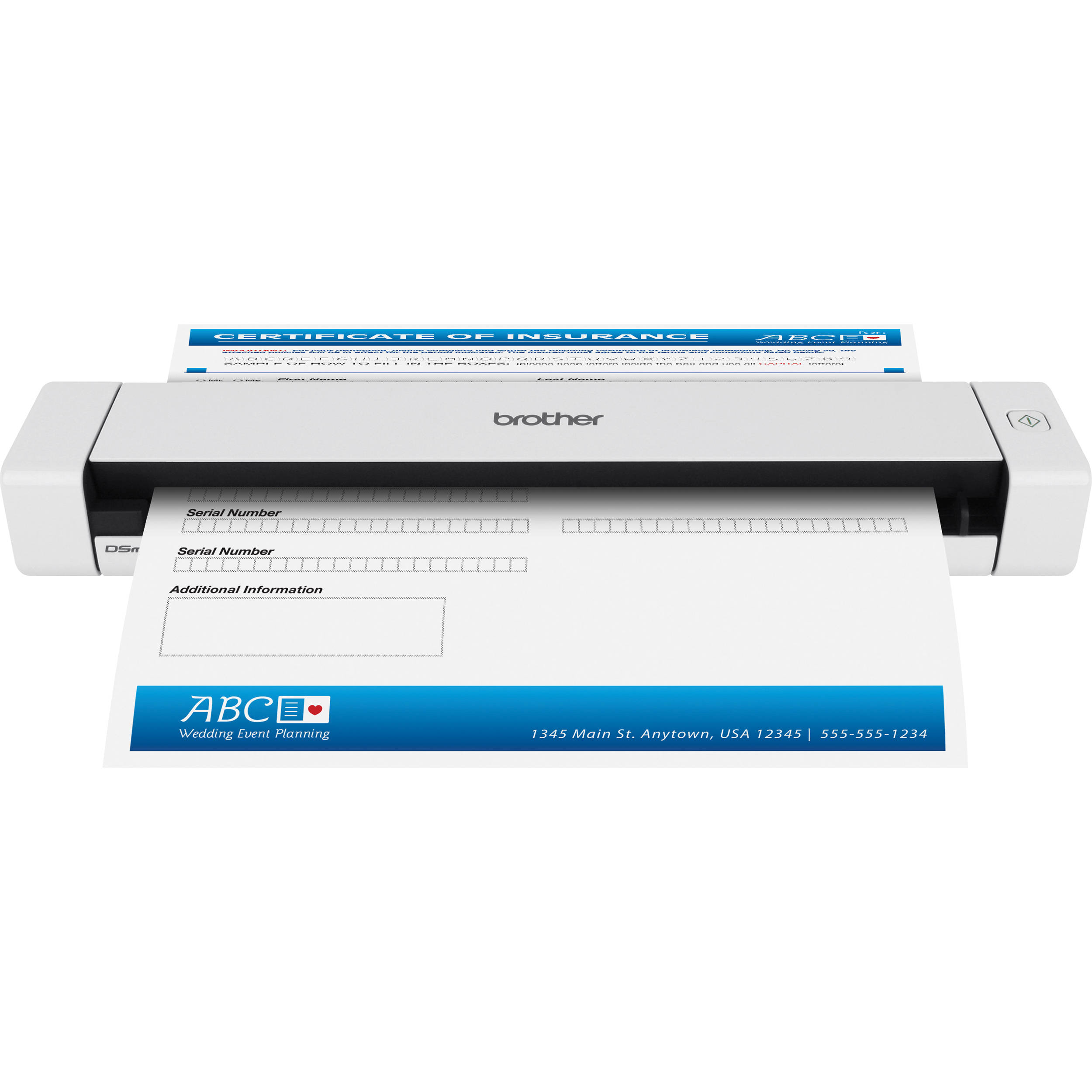 Brother, DS-620, MOBILE, DOCUMENT, SCANNER, 7.5, PPM, 300DPI, USB, BUS, POWER,