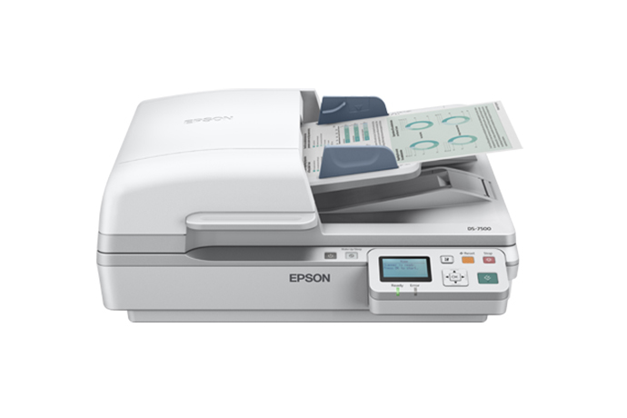 Epson, WF, DS-7500, A4, 40ppm, Duplex, Flatbed, Document, Scanner, with, ADF,