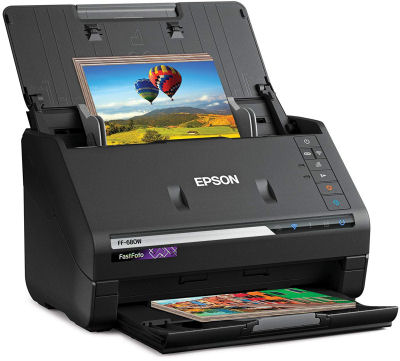 Epson, FF-680W, FastFoto, WiFi, Photo, and, Document, Scanner,