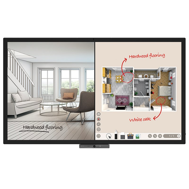 Benq, CP6501K, 65, UHD, 3840X2160, Interactive, Panel, with, Dongle, and, Wall, mount,