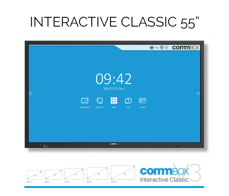 COMMBOX, (CBIC75), 75, INTERACTIVE, CLASSIC, DISPLAY, W/, POLY, STUDIO, X50, VC, BAR, AND, MOUNT, KIT,