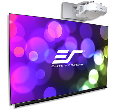 Elite, Screens, 97, 16:9, Thin, Edge, Projection, Whiteboard,