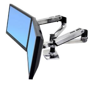 Ergotron, LX, Dual, Side, by, Side, Arm, MON, DSK, ALM,