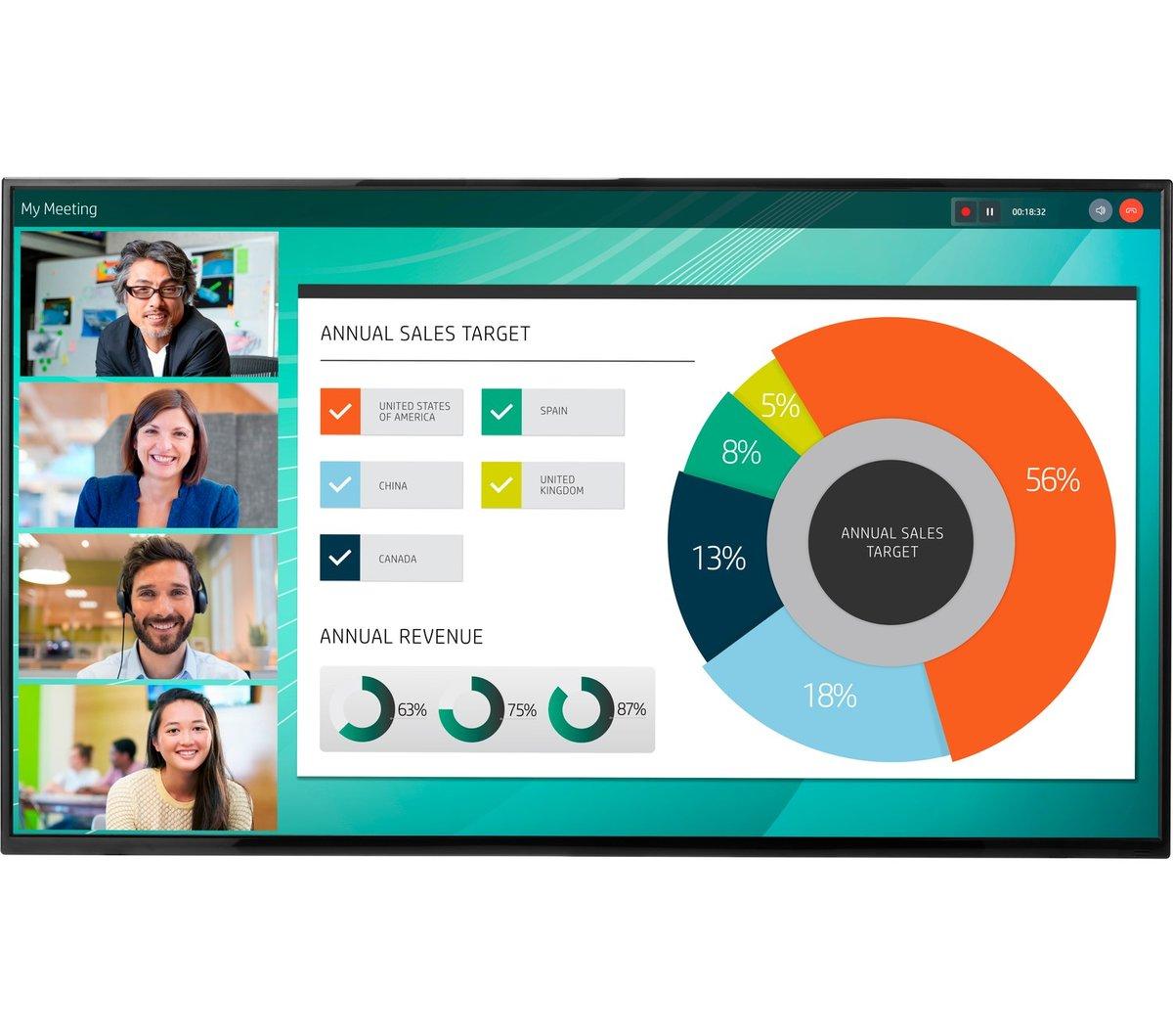 HP, LD5512, 4K, UHD, Conferencing, Display,