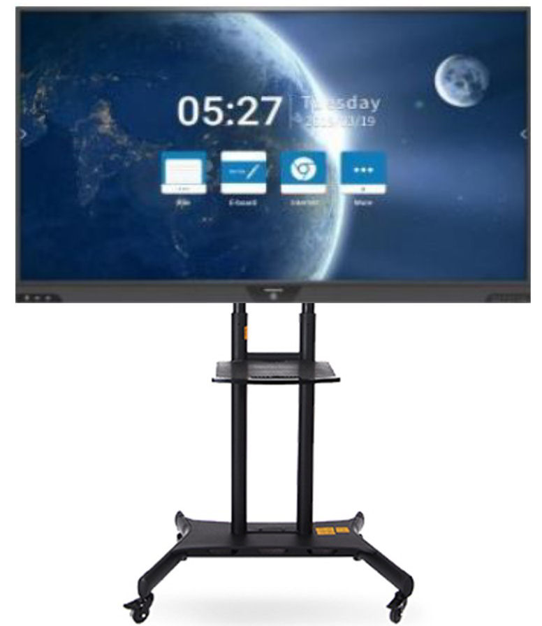 Hitachi, 75, UHD, Touchscreen, with, Mirroring, and, Annotation, plus, Stand,