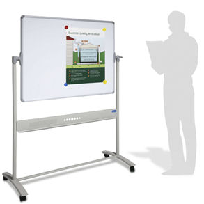 Visionchart, Mobile, Pivoting, Porcelain, Magnetic, Whiteboard, 1800, x, 1200mm,