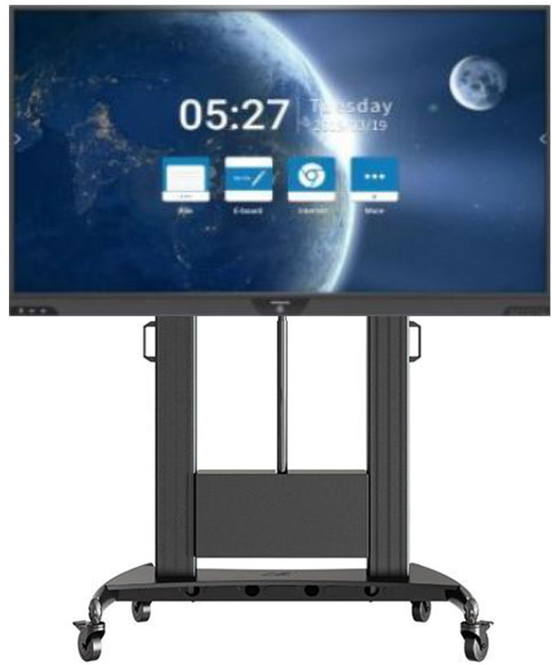 Hitachi, 75, UHD, Interactive, Touchscreen, with, Mirroring, Annotation, plus, Motorised, Stand,
