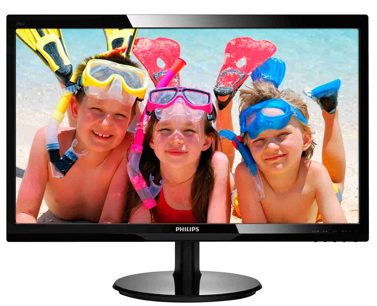 "Phlips, Dual, Monitor, Bundle, -, 2, x, 246V5LHAB, 24"", 16:9, LED, with, HDMI, and, Speakers,"