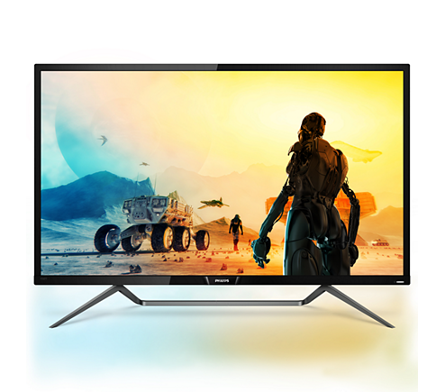 Philips, Monitor, 43, Momentum, 4K, HDR, display, with, Ambiglow,