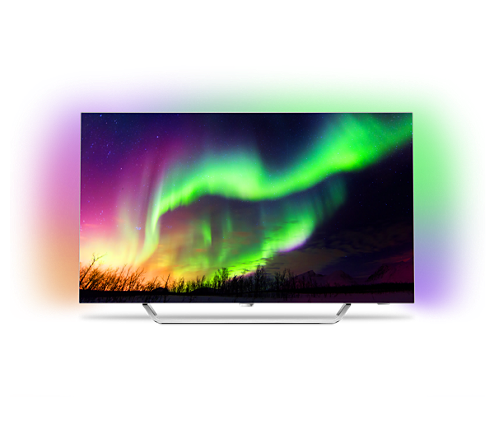 Phillips, 55, 4K, Razor, Slim, OLED, TV, with, Ambilight, 3-sided,