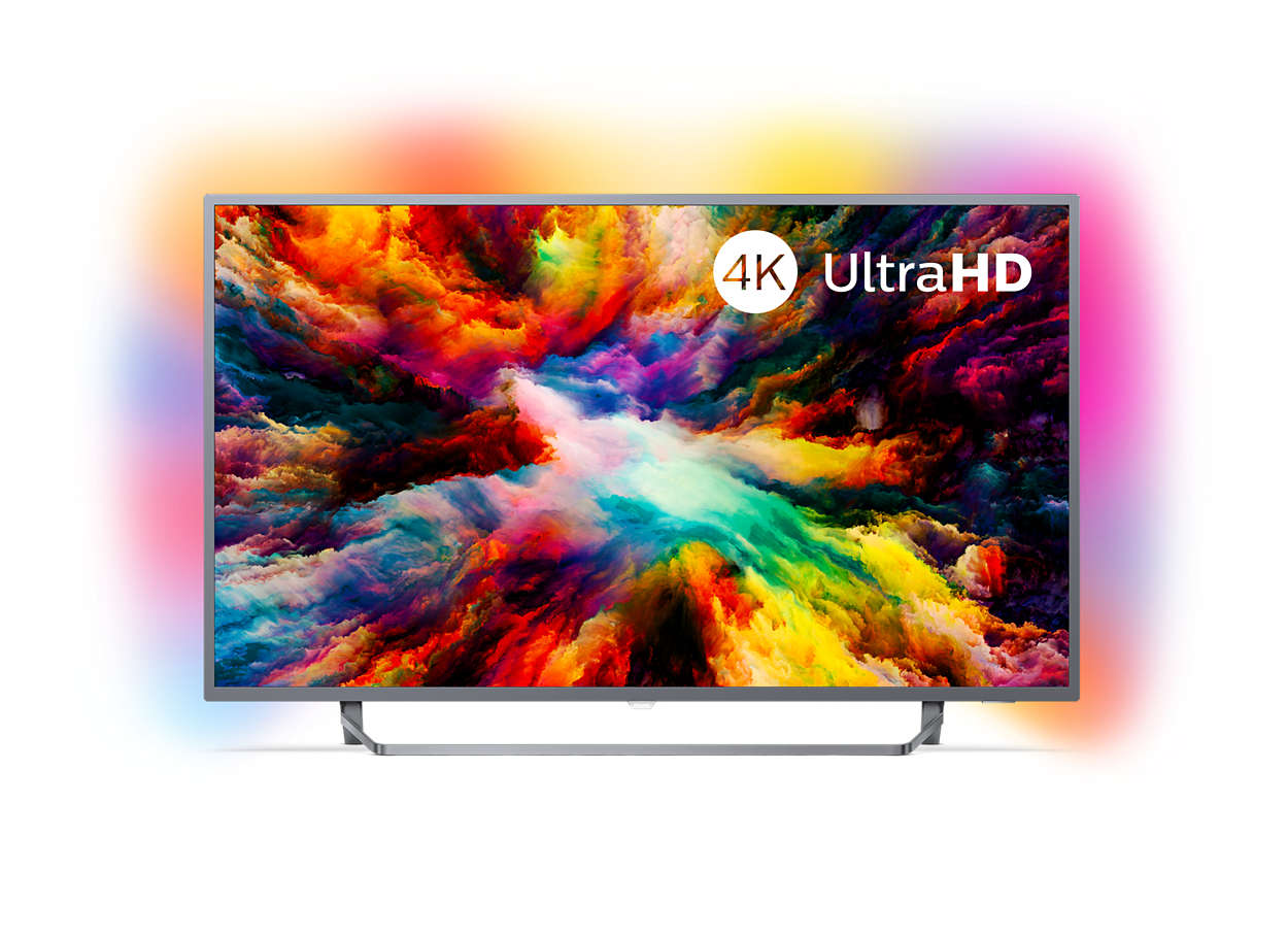 "Philips, 7300, series, 139, cm, (55""), 4K, Ultra, Slim, TV, powered, by, Android, TV, with, Ambilight, 3-sided, Quad, Core, 16GB, D,"