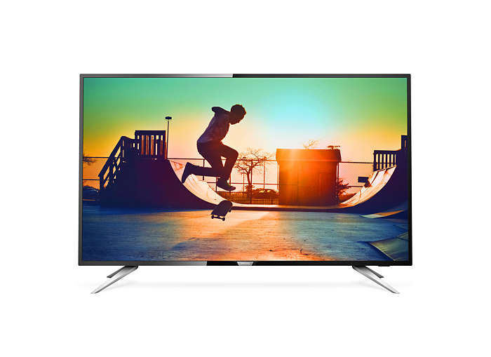 "Philips, 6000, series, 139, cm, (55""), 4K, Ultra, Slim, Smart, LED, TV, with, Pixel, Plus, Ultra, HD, Quad, Core, DVB-T/T2, 3, Year,"