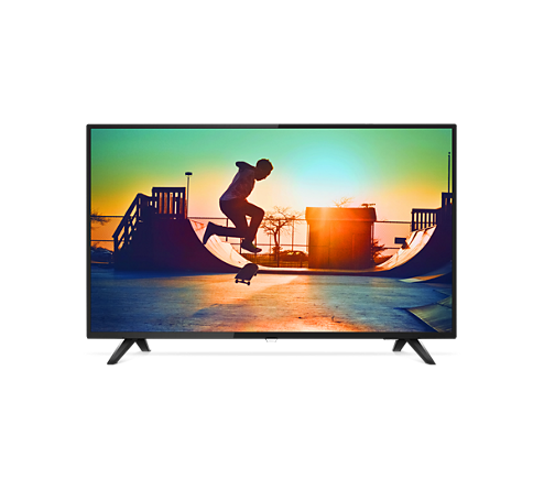 Philips, 6133, 55, 4K, Quad, Core, Ultra, Slim, Smart, LED, TV, with, Pixel, Precise,