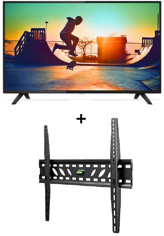 "Philips, 6133, 139, cm, (55""), 4K, Ultra, Slim, Smart, LED, TV, with, BONUS, ATDEC, WALL, MOUNT,"