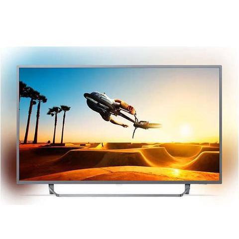"Philips, 7300, series, 164, cm, (65""), 4K, Ultra, Slim, TV, w/, Silver, Bezel, Ambilight, 3-sided, Quad, Core, Android, HDR, DV,"