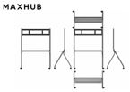 Maxhub, IFP, Trolley, /, Stand, -, Maxmium, load, 100KG, avaliable, for, 55, /65, 75, /86,