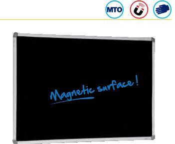 Blackboard/Visionchart: Visionchart, BLACKBOARD, PORCELAIN, 900x600MM, MAG,