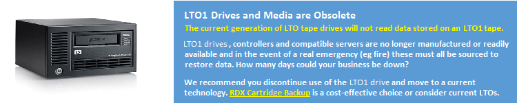 LTO1 Media Obsolete