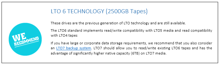 LTO6 Ext Drives