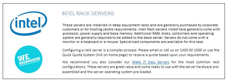 Intel Rack Servers