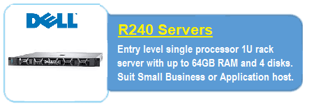 Dell R240 Servers