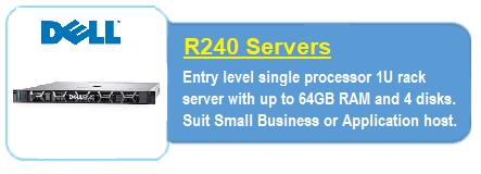 Dell R240 Servers