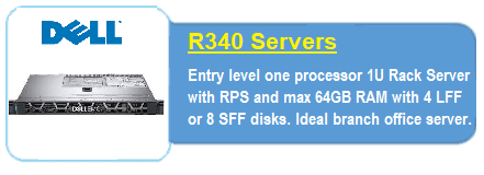 Dell R340 Servers
