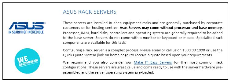 ASUS Rack Servers