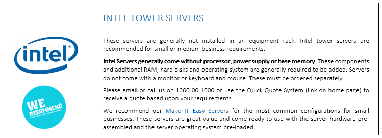 Intel Tower Servers