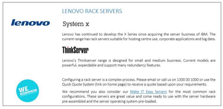 Lenono Rack Servers