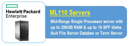 HPE ML 110 Servers
