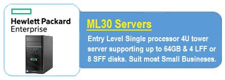 HPE ML 30 Servers