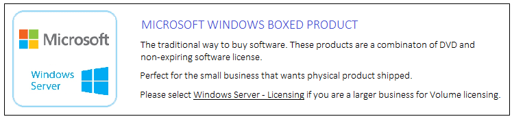 Microsoft Windows Boxed product