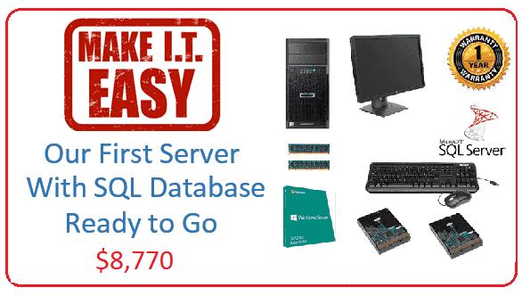 Make IT Easy First SQL Server