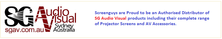 SGAV Screenguys are Proud to be an Authorised Distributor of SG Audio Visual products including their full range of Commercial Projector Screens and AV accessories.