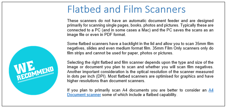Flatbed and Film Scanners
