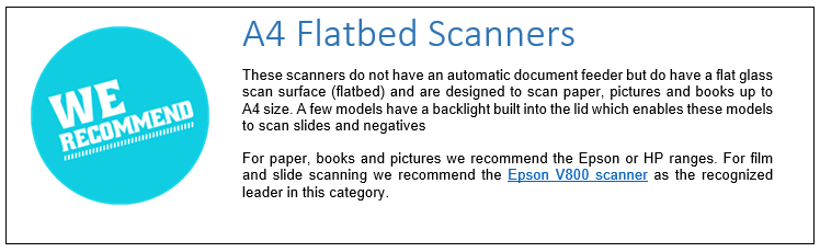 A4 Flatbed Scanners