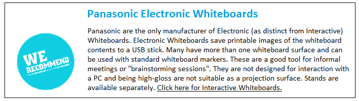 Panasonic electronic Whiteboards
