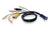 Aten, (2L-5302U), 1.8m, USB, KVM, Cable, with, Audio, to, suit, CS173xB,