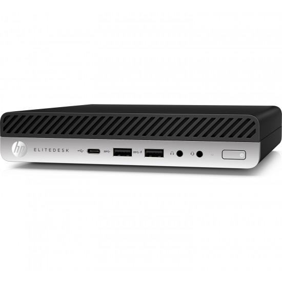 HP, EliteDesk, 800, G4, DM, (4SV44PA), i5-8500T, 8GB(1x8GB)(DDR4), SSD-256GB, KB+MS, No-WiFi, W10P-64b, 3YR, Onsite,