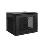 CyberPower, CR6U61002, 19, 6U, 450mm, depth, Wall, Mount, Enclosure, hex, perforated, metal, door, 60KG, loading, capacity,