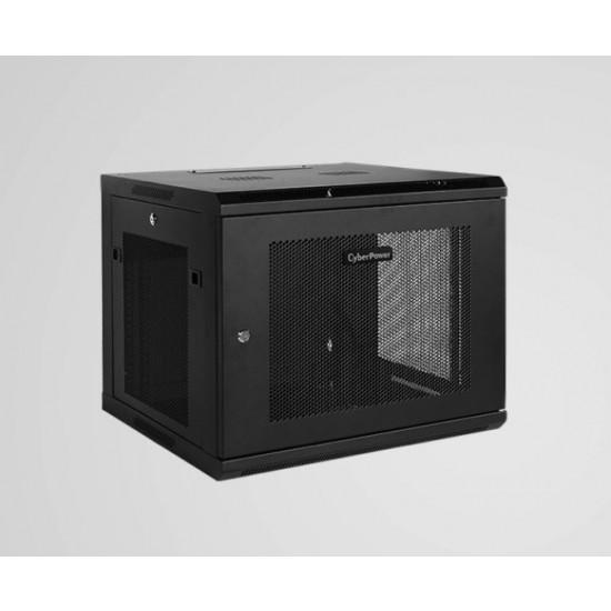 CyberPower, CR9U61001, 19, 9U, 600mm, Deep, Wall, mount, Enclosure, Hex, Perforated, Metal, Door, 60KG, Loading, Capacity,