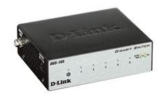 D-Link, DGS-105, -, 5-Port, Gigabit, Desktop, Switch, (Metal, Housing),