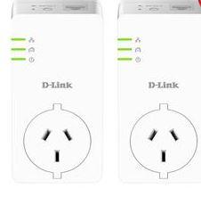 Dlink, DHP-P601AV, PowerLine, AV2, 1000, Passthrough, Adapter, Starter, Kit,