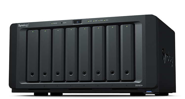 Synology, DS1819+, 4GB, DiskStation, 8-Bay, Scalable, NAS,