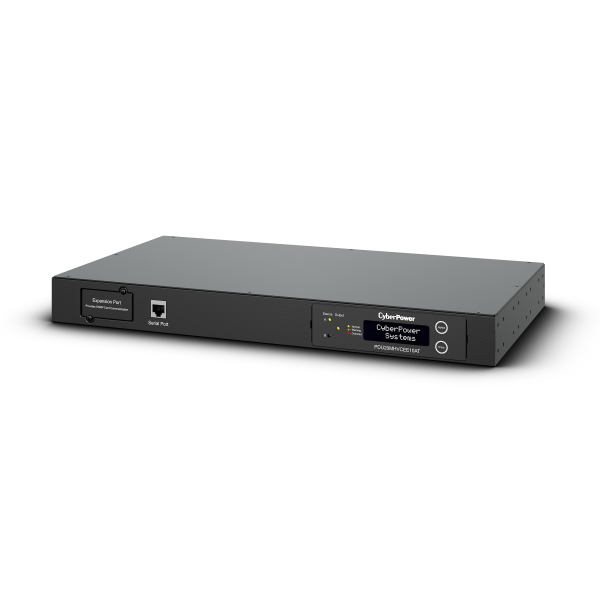 CyberPower, PDU20MHVCEE10AT, Metered, Automatic, Transfer, Switch, 16Amp, input/output, Optional, RMCARD205/, 8x, IEC, C13, out, -, IEC,