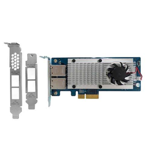 QNAP, Dual-port, 10, Gigabit, Network, Expansion, Card, for, rackmount, and, tower, models, (10GBASE-T, interface),