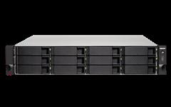 QNAP, TS-1263XU-RP-4G, 12-Bay, TurboNAS, AMD, Quad-Core, 2.0GHz, 4GB, DDR3L, RAM, (max, 16GB), 1, x, 10GbE, 10GBASE-T, (pre-installed,